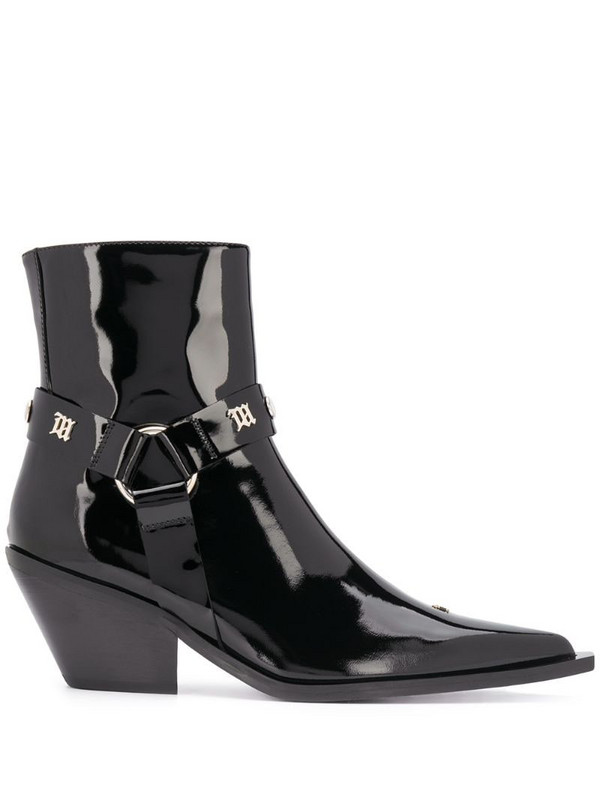 MISBHV studded point toe ankle boots in black