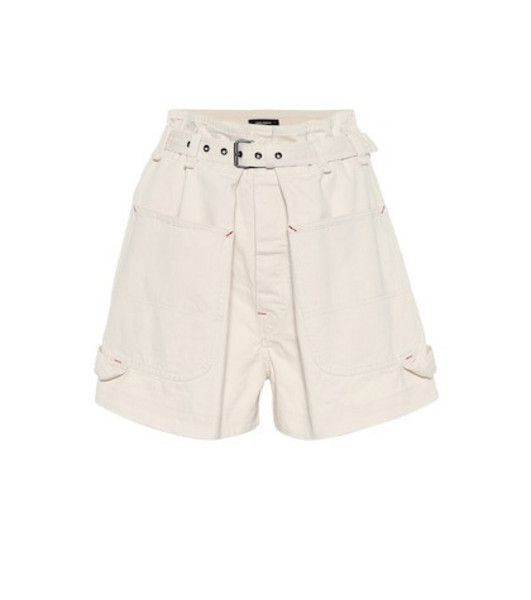 Isabel Marant Ike high-rise denim shorts in beige