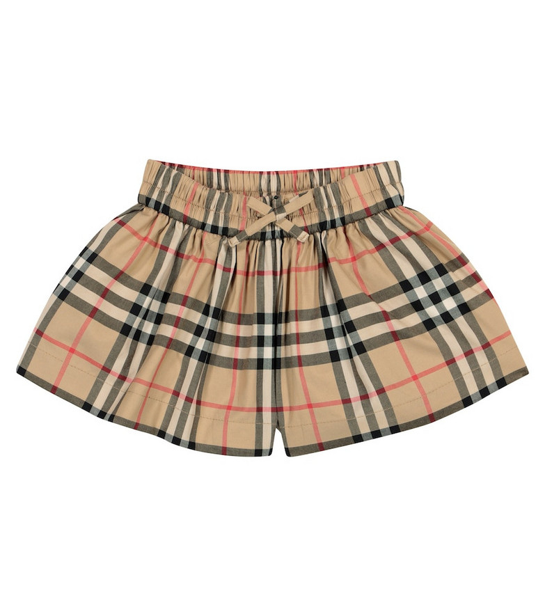 Burberry Kids Baby Vintage Check cotton shorts in beige