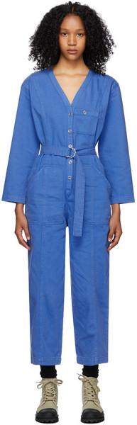 A.P.C. A.P.C. Blue Denim Gaelle Jumpsuit