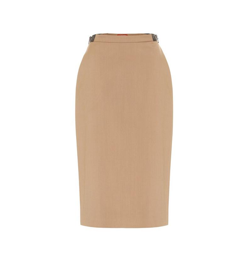 Altuzarra Bolan stretch-wool twill skirt in beige