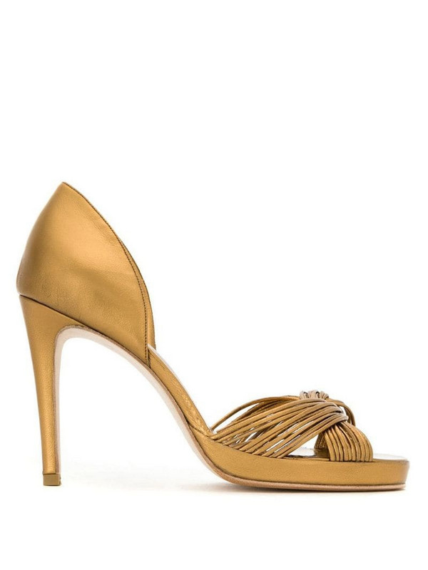 Sarah Chofakian leather sandals in yellow
