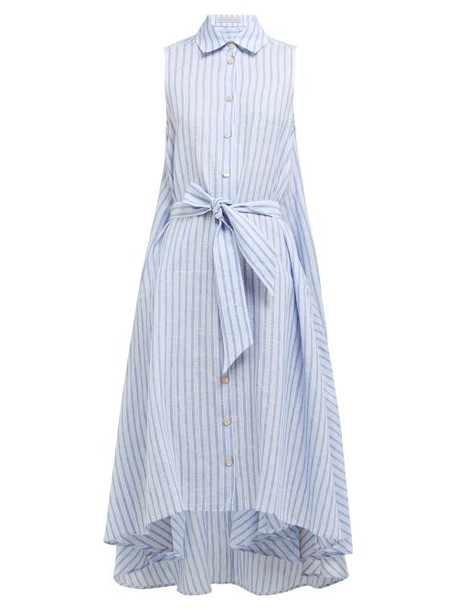 Palmer/harding Palmer//harding - Sedona Striped Linen Shirtdress - Womens - Blue Stripe
