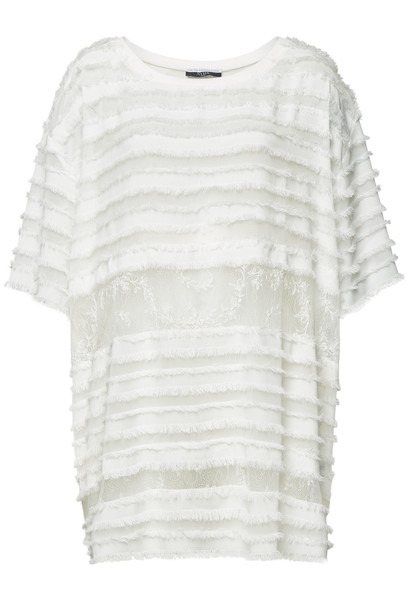 Faith Connexion Mini Dress with Lace  in white