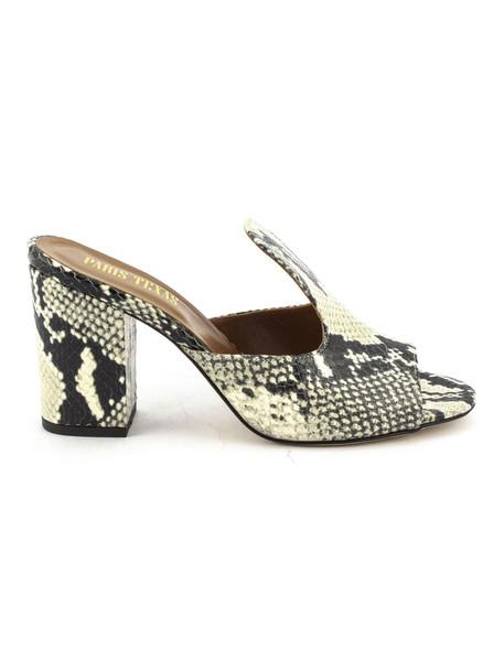Paris Texas Python Snakeskin Sandals in natural