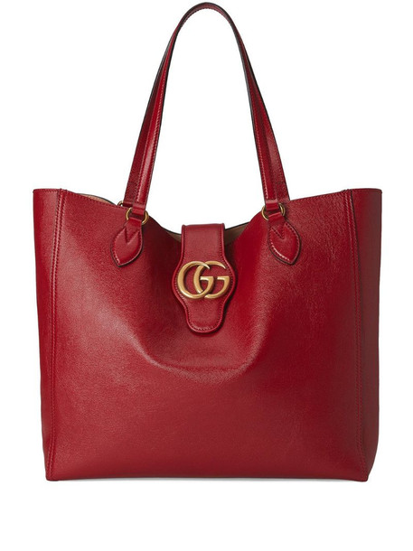 Gucci Double G logo tote bag in red