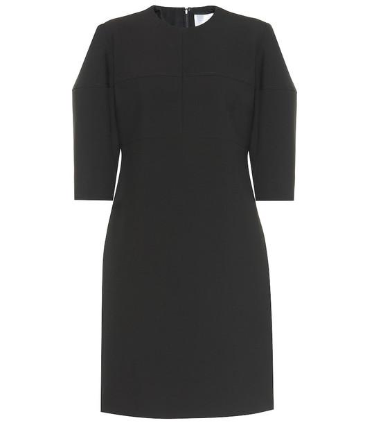 Victoria Victoria Beckham Structured-sleeve stretch minidress in black