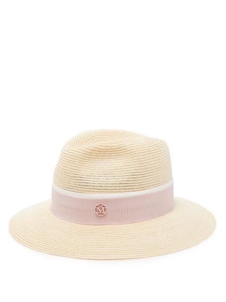 Maison Michel - Henrietta Straw Hat - Womens - Pink