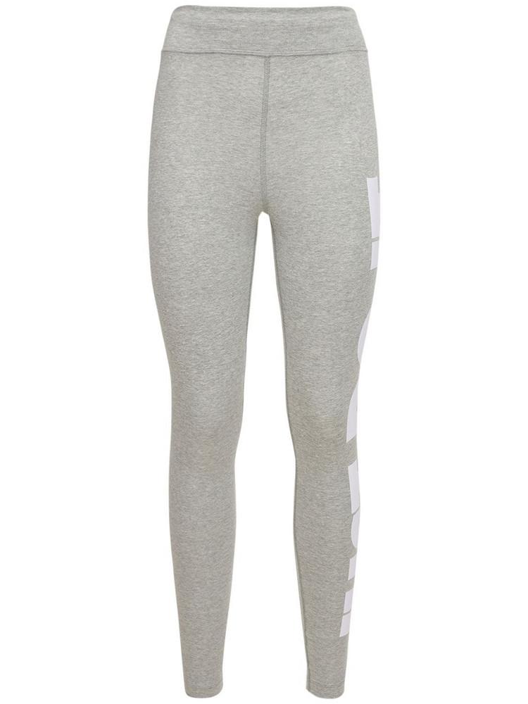 NIKE Logo High Waist Leggings in grey