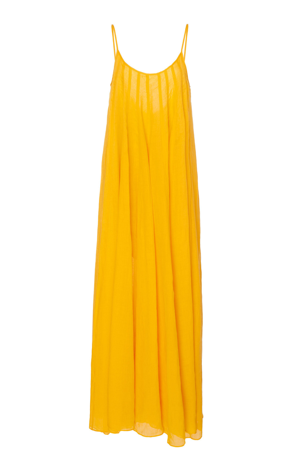 Three Graces London Mabelle Ramie Maxi Dress in orange