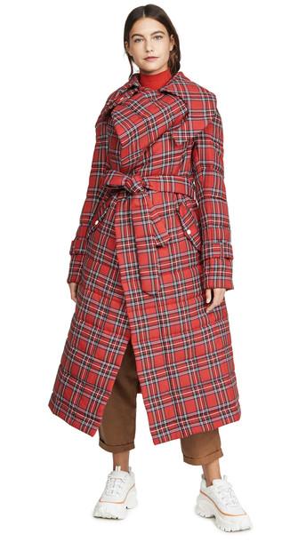 A.W.A.K.E MODE Highlander Warm Secret Coat in red
