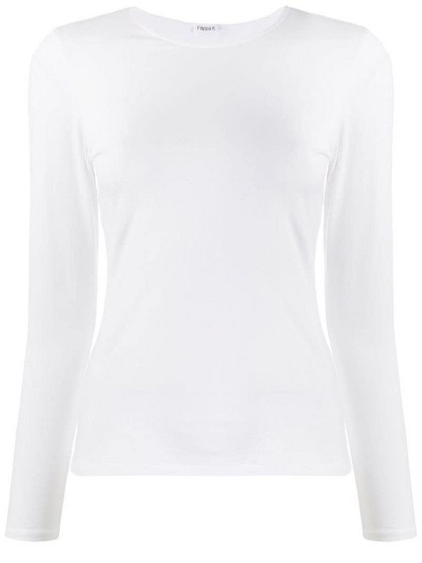 Filippa K long sleeve fitted T-shirt in white