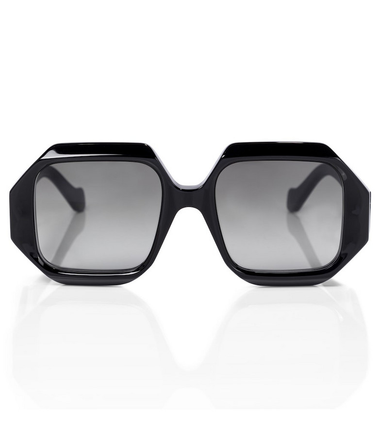 Loewe Anagram hexagonal sunglasses in black