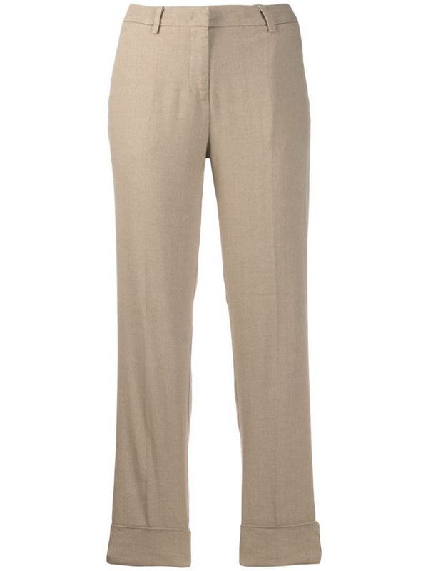 Cambio cropped leg trousers in neutrals