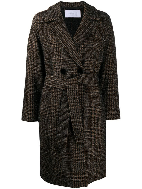 Harris Wharf London glitter knit coat in black