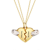jewels,gullei,gullei.com,couple necklaces,couple jewelry,valentines gifts,gifts for him and her,couple gift ideas,bff necklaces,best friend necklaces,necklace,heart jewelry