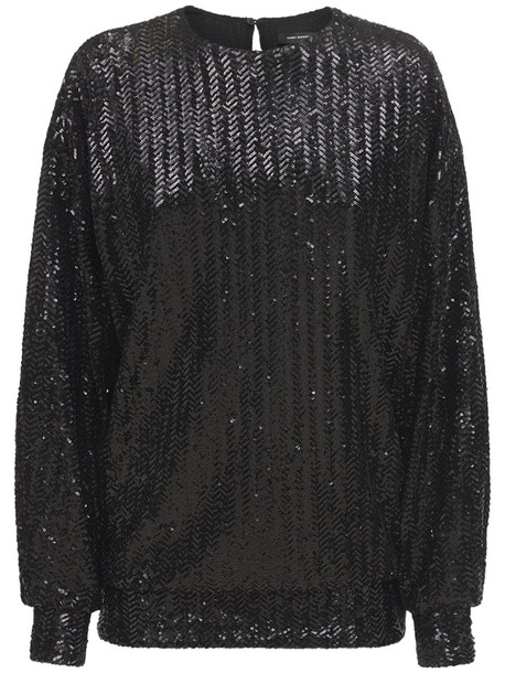 ISABEL MARANT Olivia Sequined Top in black