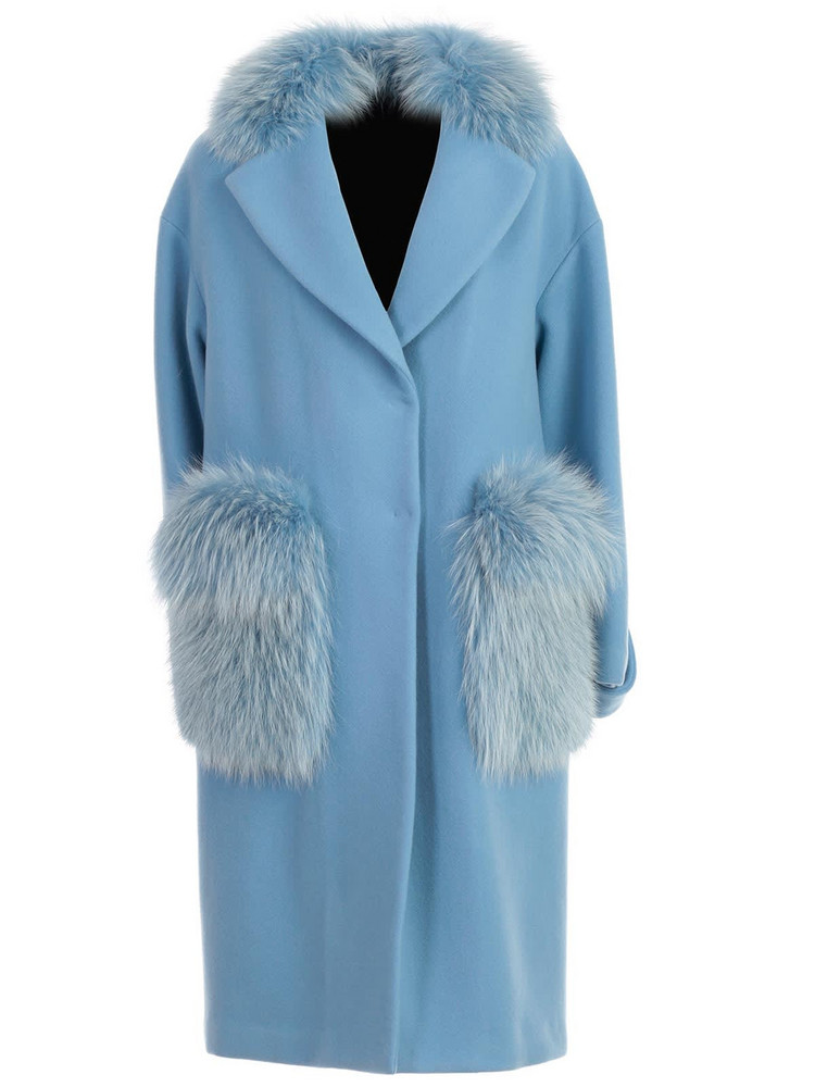 Blancha Coat Over in denim / denim