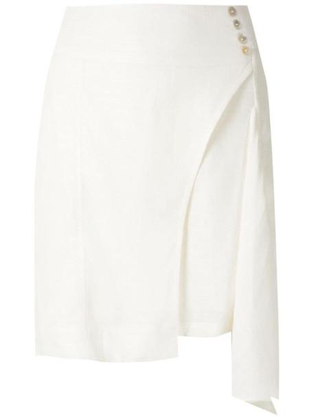 Olympiah Ylang asymmetric short skirt in white