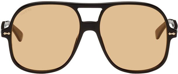 Gucci Black & Yellow Retro Sunglasses