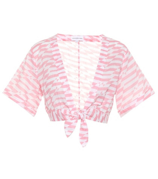 Alexandra Miro Sandy printed cotton crop top in pink