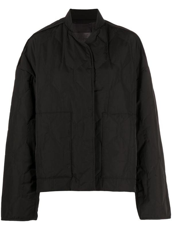 Christian Wijnants Jasmin quilted bomber jacket in black
