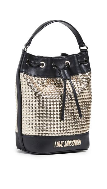 Moschino Bucket Bag in black / gold