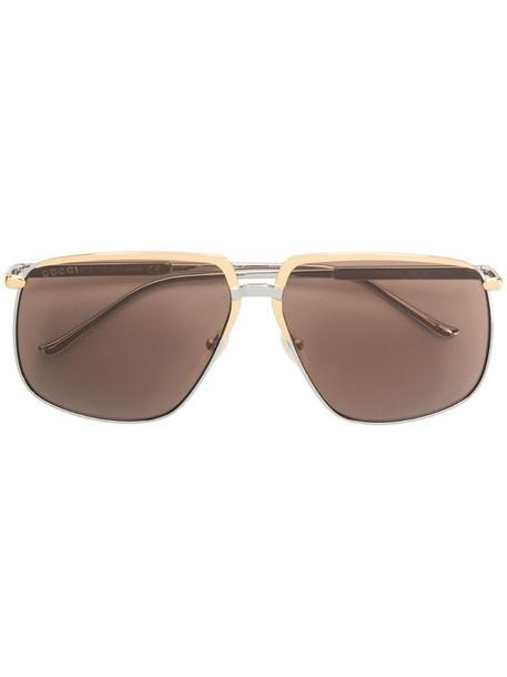 Gucci Eyewear aviator style sunglasses in silver
