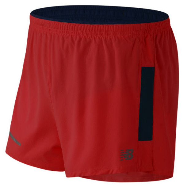 New Balance 61231 Men's Impact 3 Inch Split Short - Red/Black (MS61231ACC)