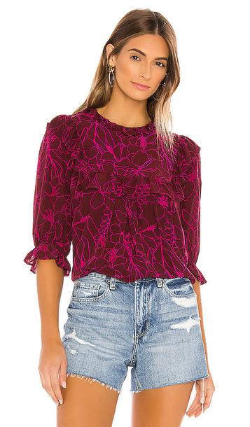 Acacia Swimwear Leblon Top in Purple