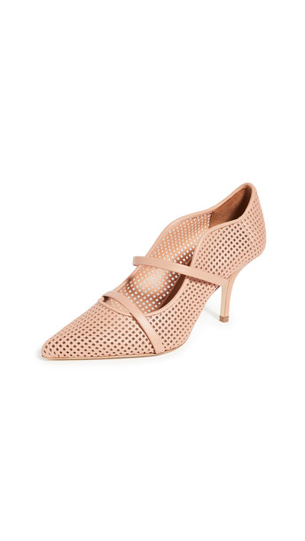 Malone Souliers 70mm Maureen Pumps in peach