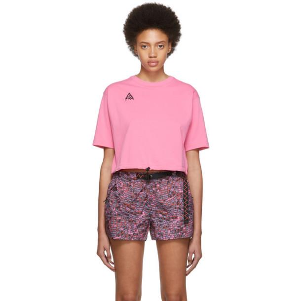 NikeLab Pink ACG Logo T-Shirt