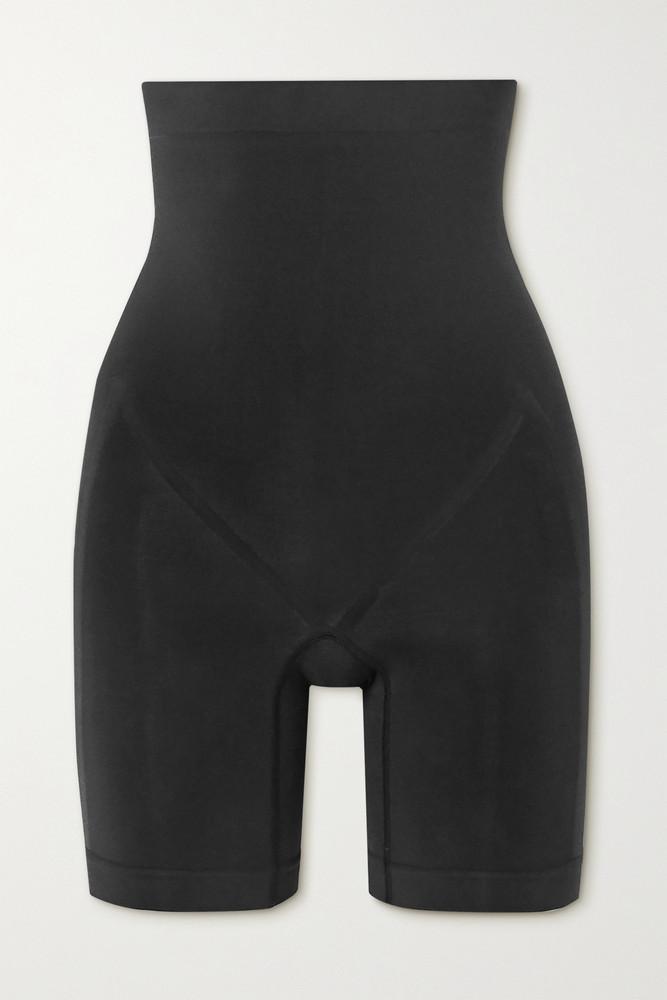 SKIMS - Bonded High Waisted Shorts - Onyx in black