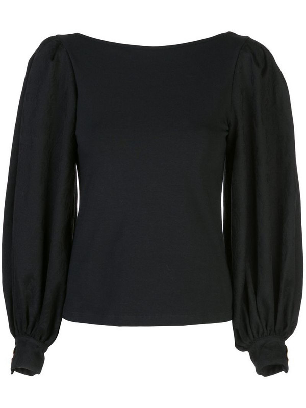Mother Of Pearl puffed sleeve blouse in black