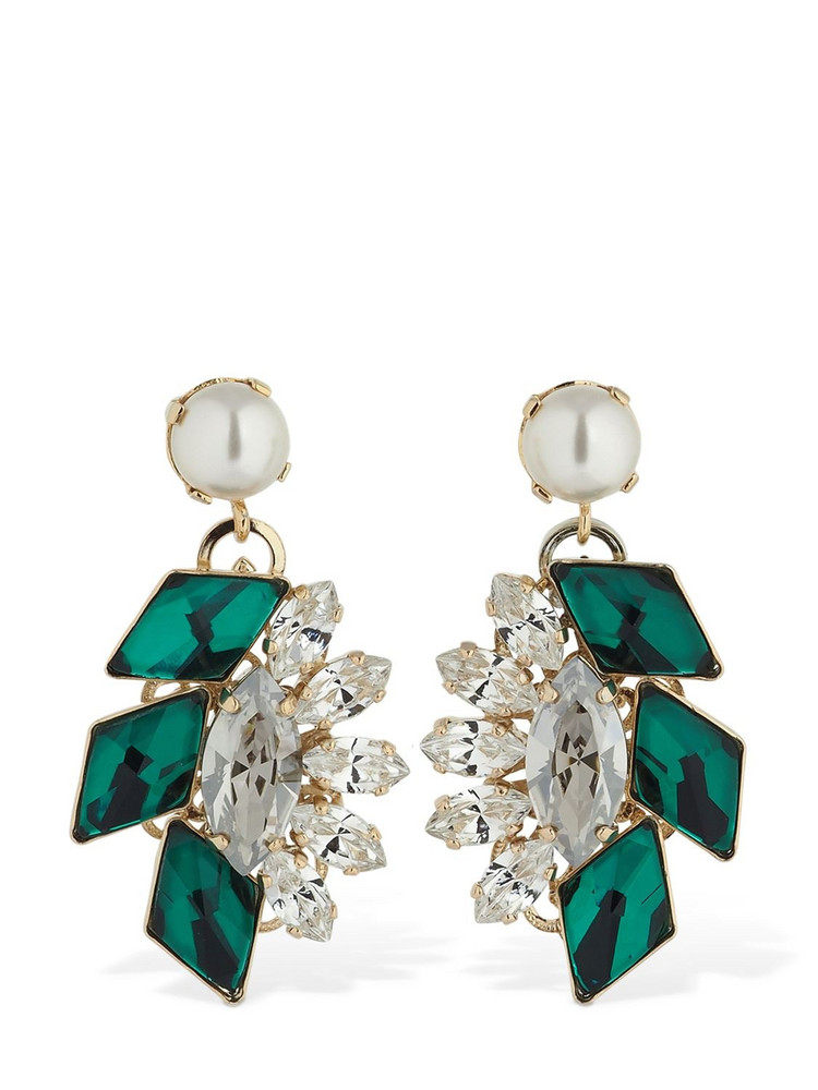 ANTON HEUNIS Post Small Cluster Pendant Earrings in green