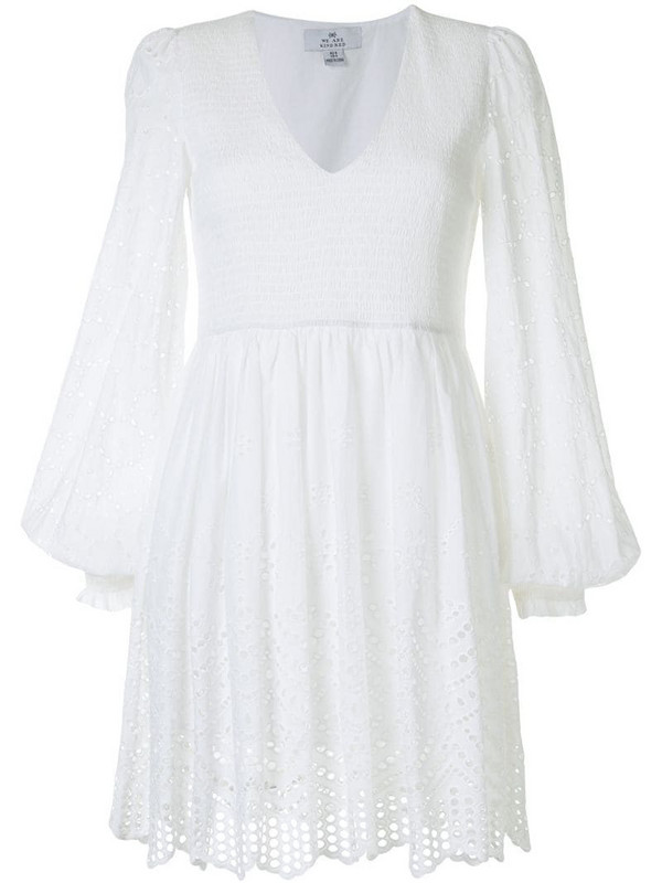 We Are Kindred broderie anglaise shirred dress in white