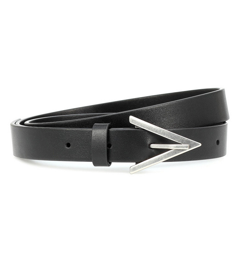 Bottega Veneta Leather belt in black
