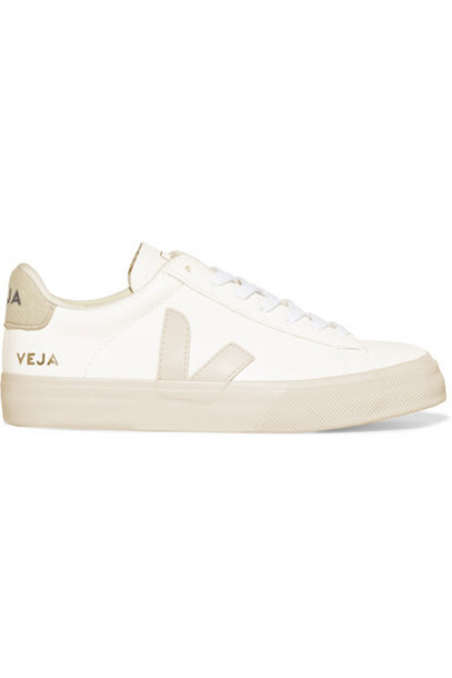 Veja - Campo Vegan Suede-trimmed Leather Sneakers - White