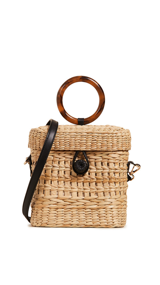 Poolside Bags The Ashleigh Bag in black / natural