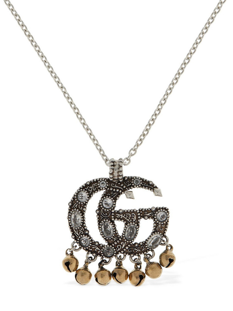 GUCCI Gg Marmont Ethnic Charm Long Necklace in gold / silver