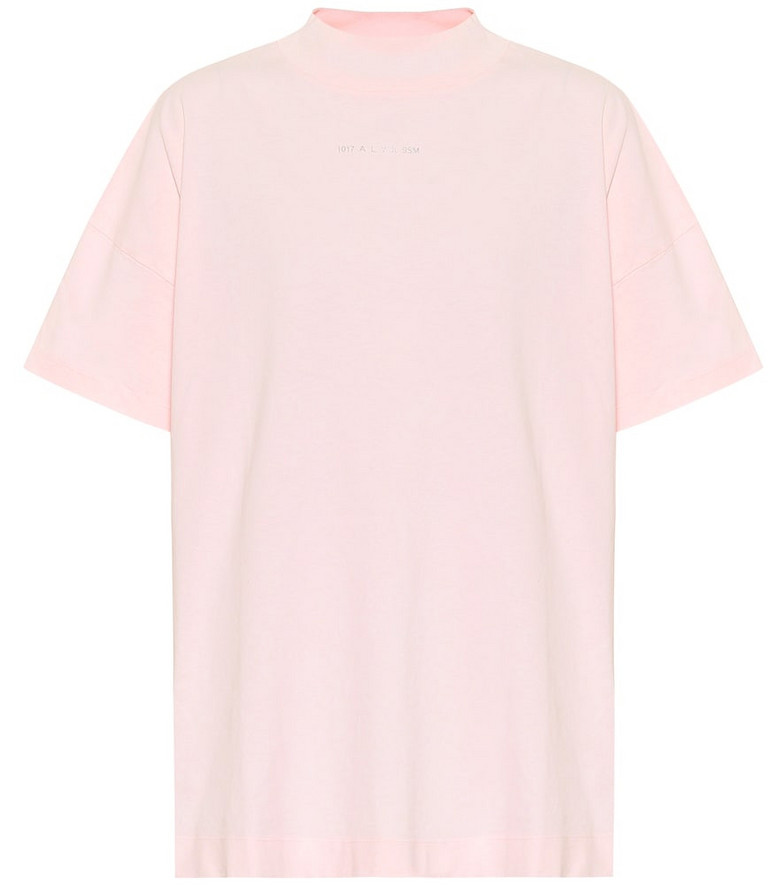 1017 ALYX 9SM Logo cotton-jersey T-shirt in pink