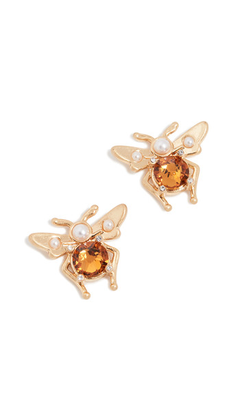 Lulu Frost Carlotta Stud Earrings in gold