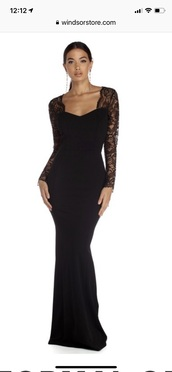 dress,black lace dress with open back