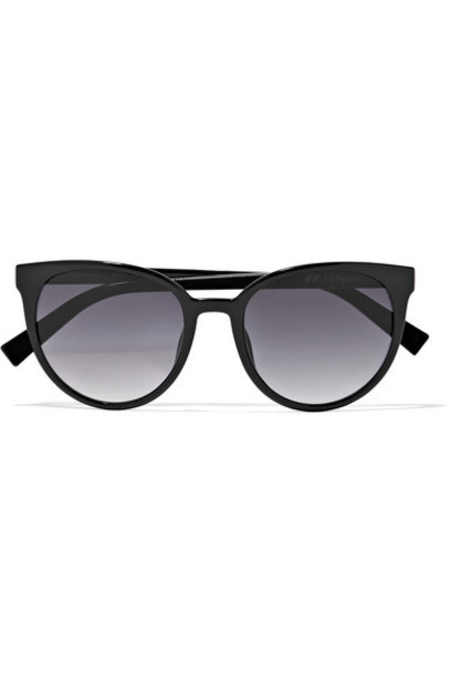 Le Specs - Armada Cat-eye Acetate Sunglasses - Black