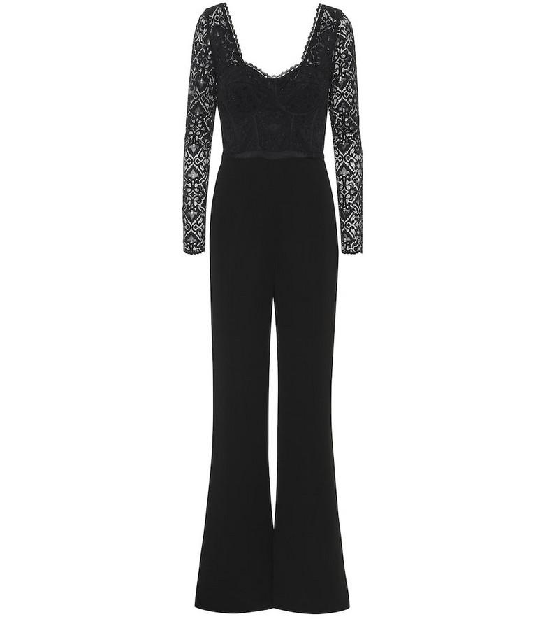 Jonathan Simkhai Floral-lace jumpsuit in black