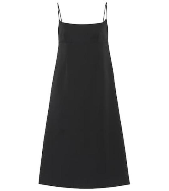Marc Jacobs Spaghetti Strap wool dress in black