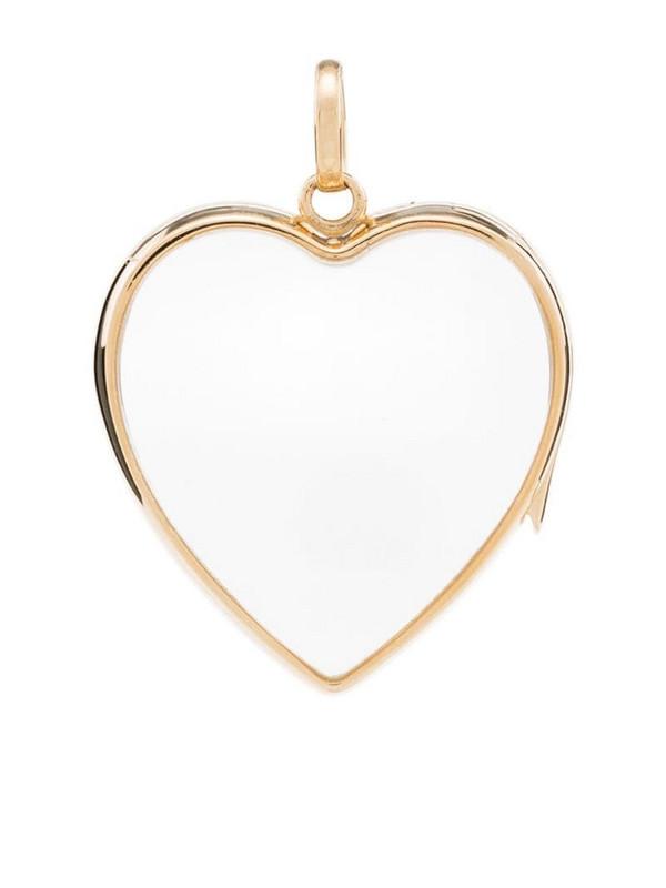 Loquet 14K yellow gold heart-shape locket pendant