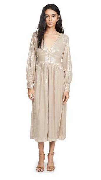 OPT Hera Sequin Dress in beige