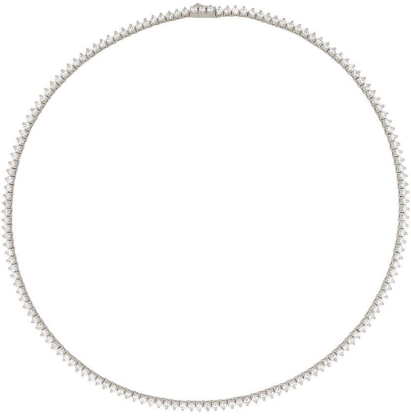 Numbering Silver #3710 Necklace in white