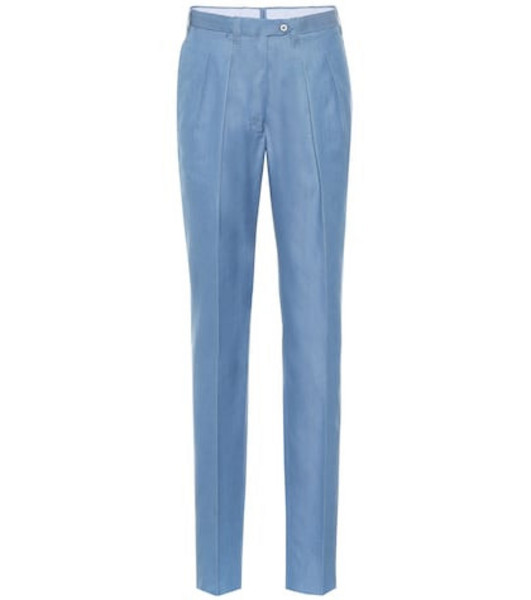 Giuliva Heritage Collection The Husband straight cotton pants in blue